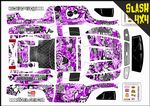 Purple Stickerbomb themed vinyl SKIN Kit To Fit Traxxas Slash 4x4 Short Course Truck